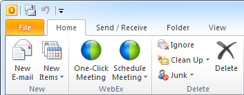 Webex Outlook plugin